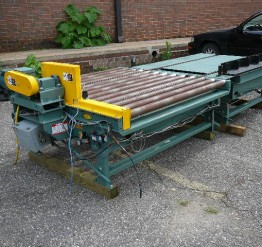Hytrol Full Pallet Roller Conveyor Driven 90 Degree Pop-up Transfer Sections-17 Available