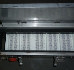 Used 'as is' Procomac Stainless Steel Cap Conveyor