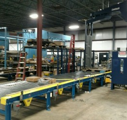 Used 'as is' Lantech 4 Sections of Pallet Conveyor - SOLD